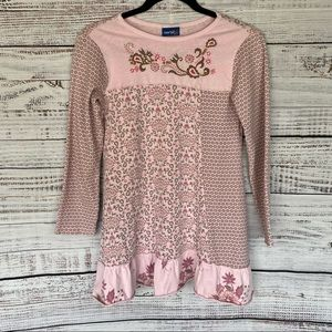 NAARTJIE KIDS Pink Embroidered A line Dress 10